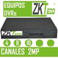 EQUIPOS DVR ZKTECO 4 8 Y 16  CANALES 2MEGAPIXELES