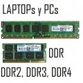 MEMORIAS PARA LAPTOPs Y PCs